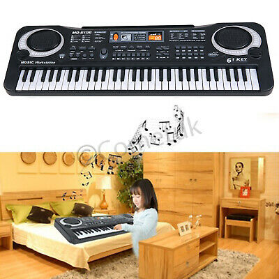 61 Keys Digital Electronic Piano Electric Music Keyboard Organ Mini Microphone U