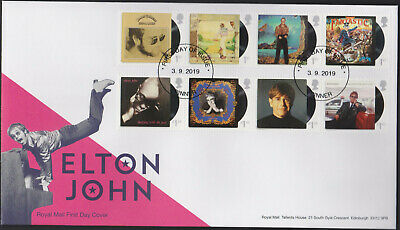 2019 - Elton John FDC - ,First Day of Issue Non Pictorial Pinner Pmk - Post Free