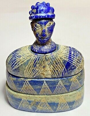 Ancient Bactrian Lapis Lazuli Stone Temple Diety Idol Statue-Circa 200Bc-200Ad