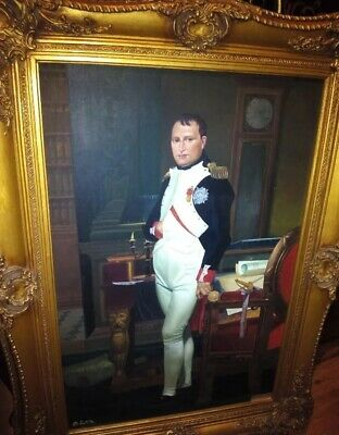 Huge Napoleon oil painting on canvas. 19th-20th century signed