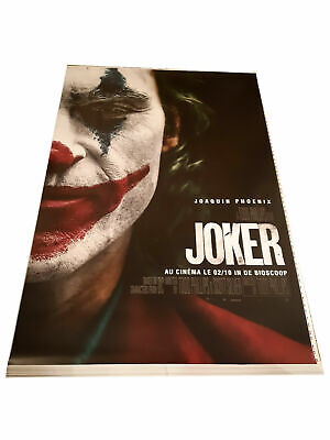 Joker Movie Poster Joaquin Phoenix 4x6 UNFOLDED Exclusive French Edition