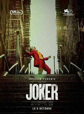Joker Joaquin Phoenix Movie Poster 4x6  EXCLUSIVE GOLD LION OF VENICE'S MOSTRA
