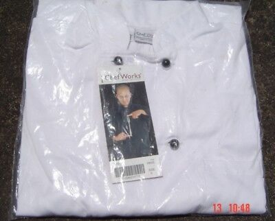 Chef Works White Jacket Size S Item MBSS New In Pack Unwanted Gift as Per Scans
