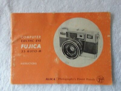 Fujica 35 Auto M camera instructions booklet in good usable condition