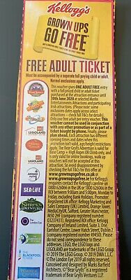 Free Adult Ticket Alton Towers Thorpe Park  Tussauds Legoland London Free Uk P&P