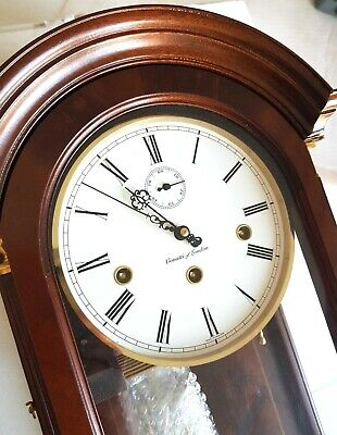 Comitti London Est.1850 - Mahogany Wall Clock