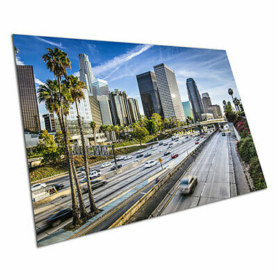 Downtown motorway traffic Los Angeles skyline California USA Poster A1 Poster