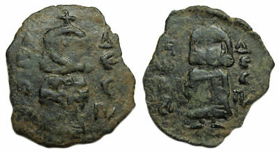Leo III with Constantine V Ae Follis : Emperors Standing