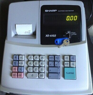 SHARP XE-A102 Electronic Cash Register With Till Rolls And Free P&P