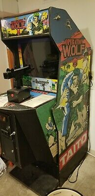 OPERATION WOLF ARCADE MACHINE by TAITO (Great Condition) 1987 - RARE!  PICK UP
