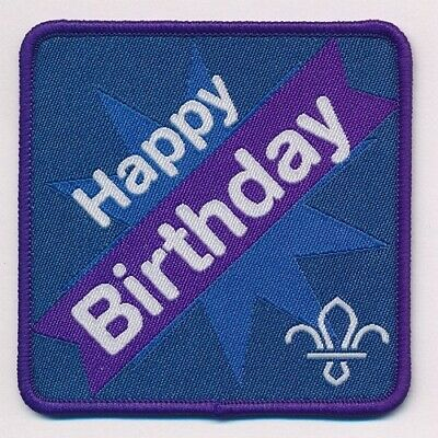 Scouting Happy Birthday Fun Badge For Any Scout Cub Beaver Fleur De Lis New