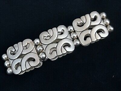 ATI VINTAGE HAND MADE STERLING SILVER BRACELET FROM MEXICO 89g MAGNIFICENT