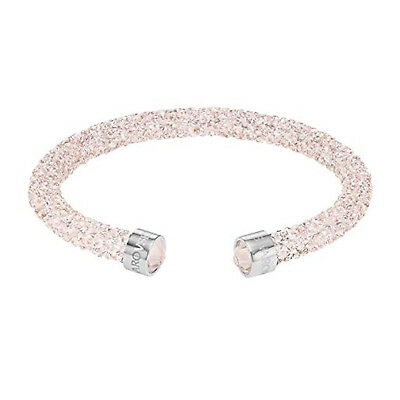 swarovski originale bracciale donna rosa pink crystaldust cuff crystal bangle