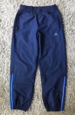 Blue Adidas tracksuit Jogging bottoms age 11-12