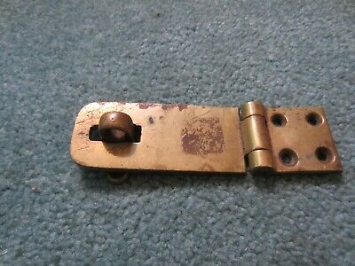 Brass Hasp Set Heavy Duty Reclaimed Salvage  Antique