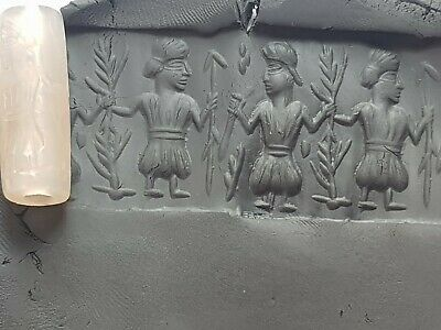 Extremely Rare Intact Ancient Cylinder Seal Sasanian  Empire.9,6 Gr.30.1 Mm