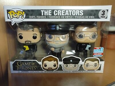 Funko pop THE CREATORS George R. R. Martin NYCC 2018 GAME OF THRONES LIMITED