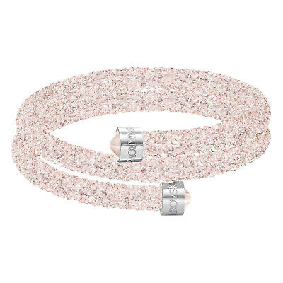 swarovski originale bracciale donna crystaldust bangle double rosa cristalli