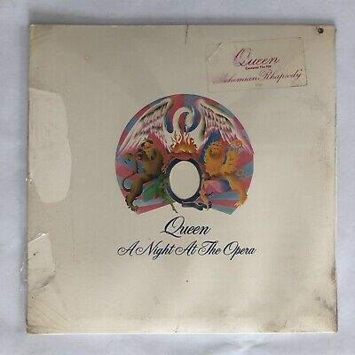 Queen SEALED A Night At The Opera 1975 CLEAR Hype Sticker lp