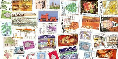 CANADA 100+ used stamps off paper