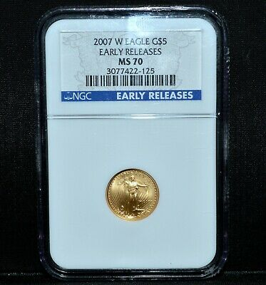 2007-W $5 Gold American Eagle ✪ Ngc Ms-70 ✪ 1/10 Early Release Er L@@K ◢Trusted◣
