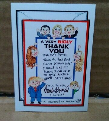 Garbage Pail Kids 2016 Wacky Packages A Very Bigly Thank You #111 Disgrace Trump