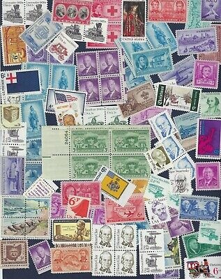 Us Postage Stamps. 100 Very Fine Mnt  0.01 Cent - 0.06 Cent Lot.  Unused
