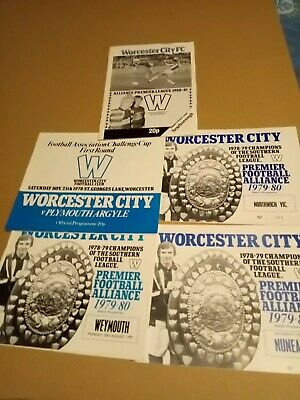 Joblot Worcester City Football Programmes 1978 79 1980 Fa Cup League Plymouth Fc