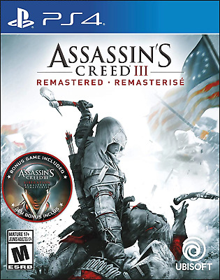 Assassin's Creed III Remastered PS4 (Sony PlayStation 4, 2019) Brand New