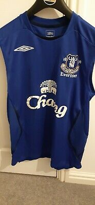 Official EVERTON FC Gym Training Vest, Football T Shirt size. Small Mens