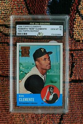 1998 Topps Roberto Clemente Reprint From 1963 Graded 10  Low Starting Bid!!