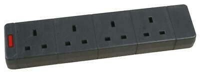 4 Gang Way Unwired Trailing 13amp Extension Socket Flat Block No Cable No Lead