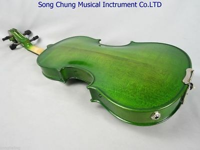 """Solid wood green color electric & acoustic viola 15"""",Maple+spruce hand made"""