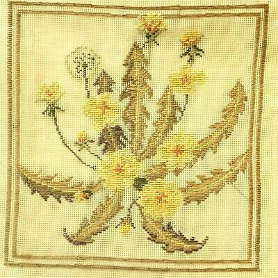 New Queen Adelaide DANDELIONS Trammed Tapestry Kit, 36x38cm, Aust Wool Yarns