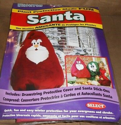 WinterPals Santa Plant Protection Cover for Outdoor Use   New Sealed