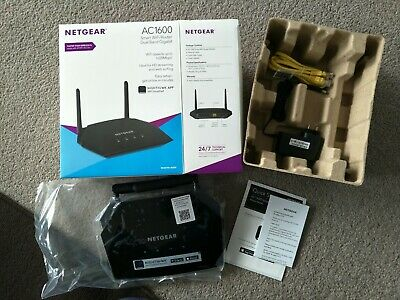 ~NEW! NEVER USED~NETGEAR D6400 AC1600 Dual Band Gigabit WiFi Modem Router~