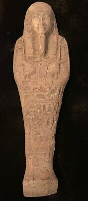 ANCIENT Egyptian faience ushabti Circa 600 BCE Beautiful Authentic artifact