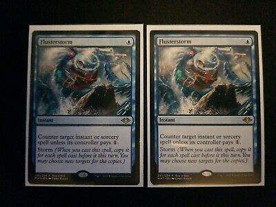2x NM Flusterstorm Buy-A-Box Promo Magic The Gathering