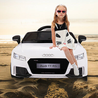 12V Audi TT Electric Kids Ride On Car MP3 LED Lights Remote Control Licensed WH