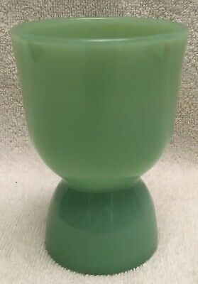 Fire King Restaurant Ware Jadeite Jadite Double Egg Cup MINT Condition