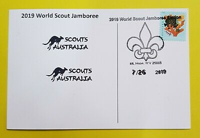 24th world scout jamboree 2019  Postmark on USPS official postcard and AUSTRALIA