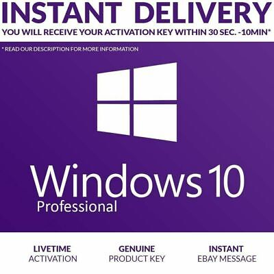 Windows 10 Pro 32 / 64 Bit Win 10 Genuine License Original Activation Key Retail