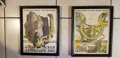 Saturday Evening Post Framed Covers - March 7 and July 4th 1936 --VERY RARE