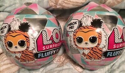 Lot Of 2x LOL Surprise Winter Disco Series FLUFFY PETS Sealed Unopened Balls MGA