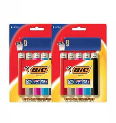 BIC Classic Lighter, 12-Pack, Assorted Colors
