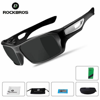 ROCKBROS Polarized Bicycle Cycling  Sunglasses Safety Eyewear Goggles Black New