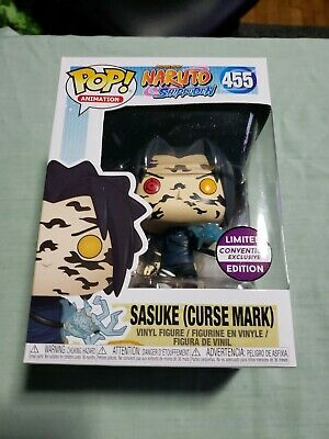 Funko Pop Naruto Shipuden : Sasuke (Curse Mark) #455 Convention Exclusive