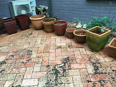 Garden pots - terracotta - assorted shapes and sizes