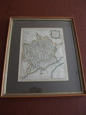 Original Hand Coloured Antique Map of Monmouthshire: Thomas Kitchin 1763.