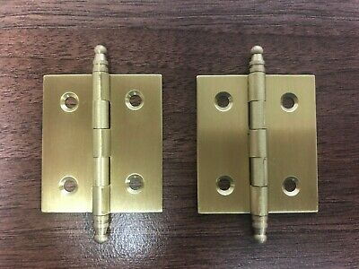 Hermle Kieninger Large Ormolu Hinge With Acorn Finials For Clock Trunks or Cases